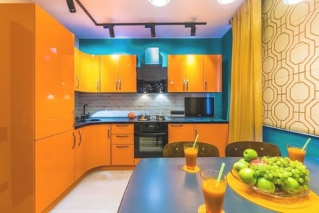 20 Orange Kitchen Ideas For 2018 for Yellow And Turquoise Kitchen