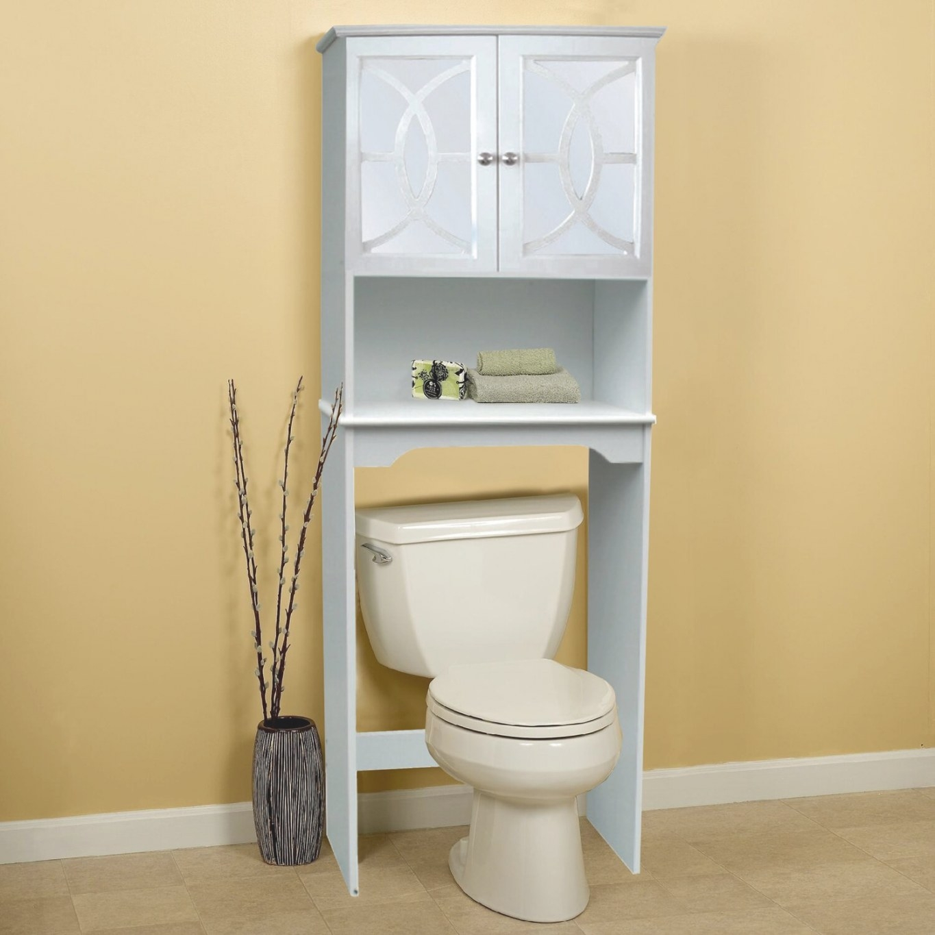"""24"""" X 68"""" Free Standing Over The Toilet 