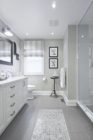 25 Beautiful Gray Bathrooms with Grey And White Bathroom
