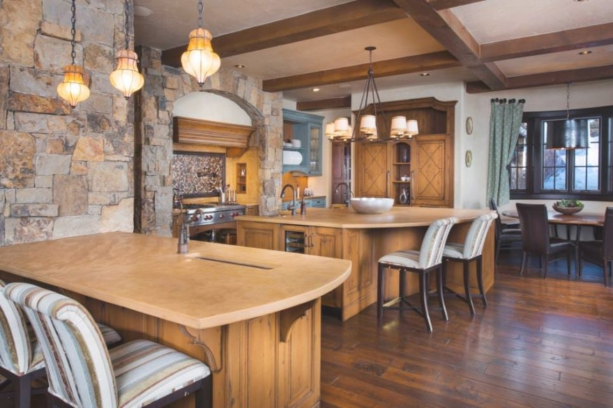 28+ Stone Walled Kitchen Designs, Decorating Ideas for Accent Walls In Kitchens