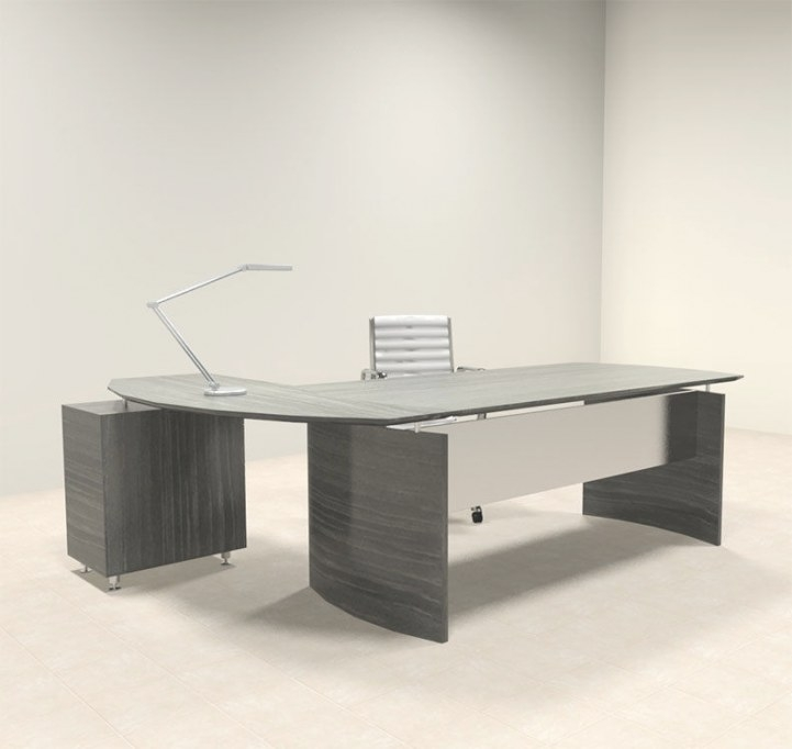 2Pc Modern Contemporary L Shaped Executive Office Desk Set within L Shaped Office Desk