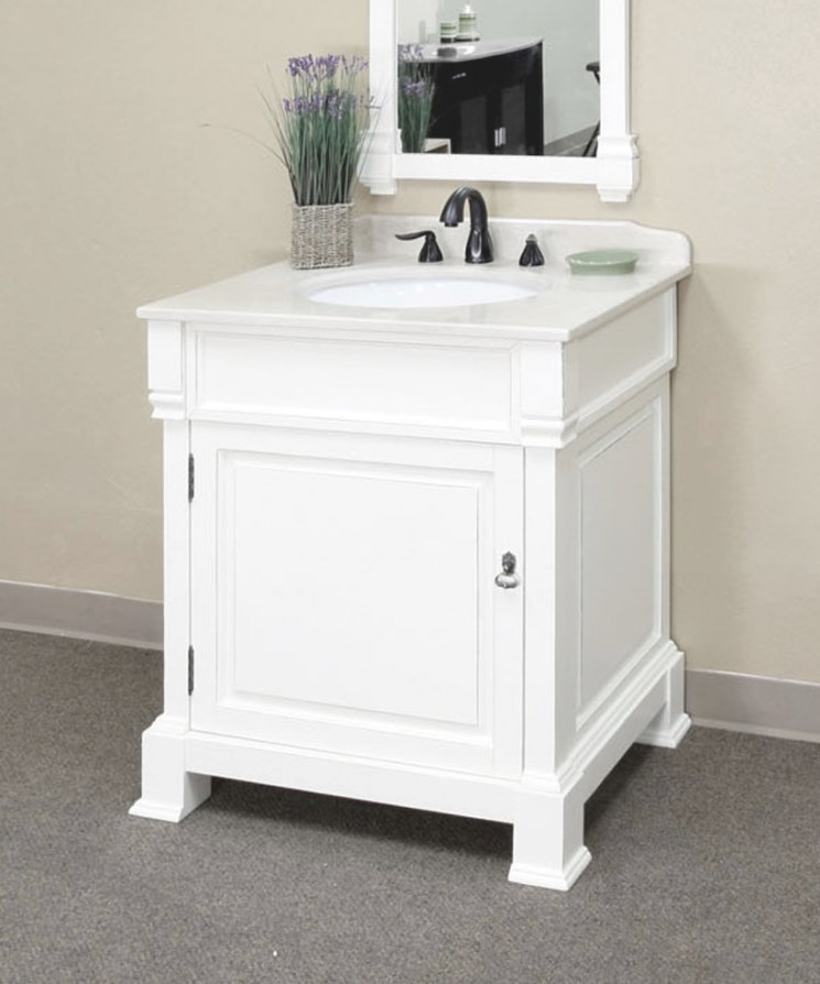 "30 Inch Traditional Single Sink Vanity Woodbellaterra for 30"" Bathroom Vanity"