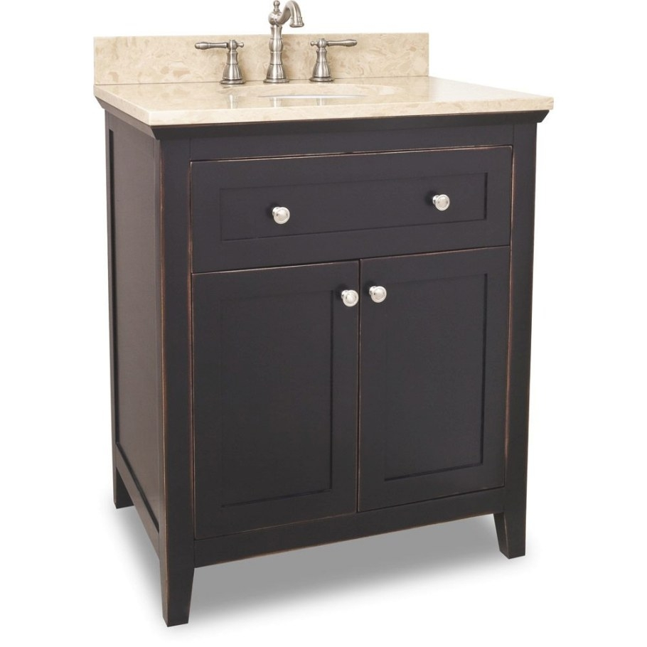 "30"" Vittoria Single Bath Vanity - Aged Black regarding 30"" Bathroom Vanity"
