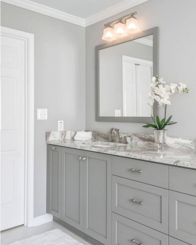 35+ Cool Bathroom Ideas For Home | Bathroom Paint Colors pertaining to Sherwin Williams Gray Screen