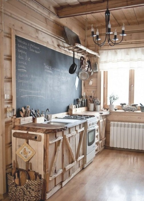 35 Creative Chalkboard Ideas For Kitchen Décor - Digsdigs inside Rustic Kitchen Ideas For Small Kitchens