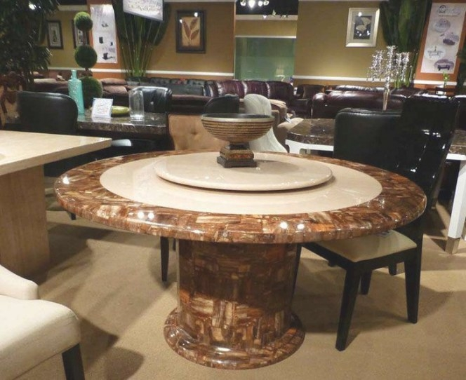 39 Elegant Granite Dining Room Table Ideas   Table in Round Marble Dining Table