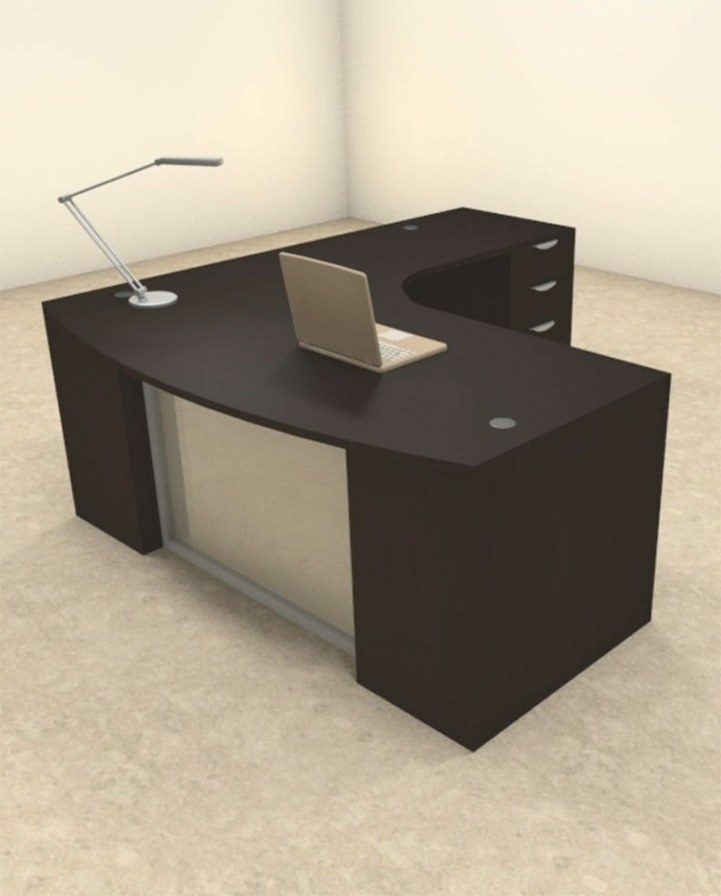 3Pc L Shaped Modern Contemporary Executive Office Desk Set within L Shaped Office Desk