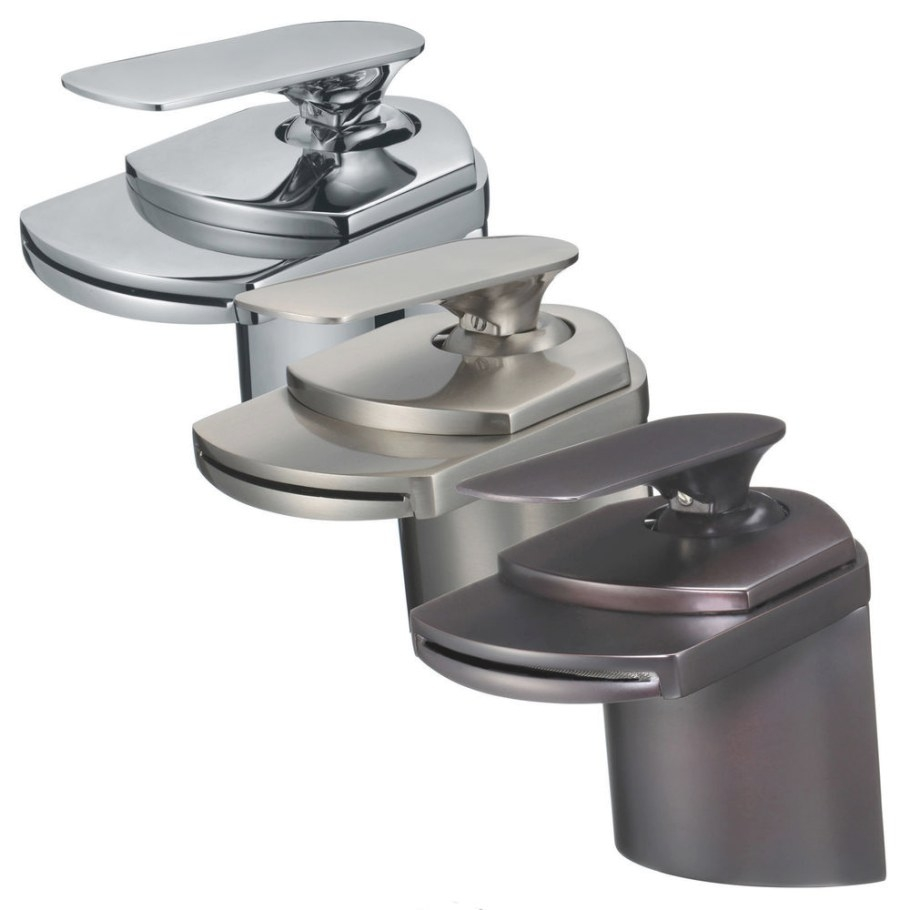 """4"""" Waterfall Bathroom Faucet Chrome/Brushed Nickel/Oil with regard to Mixing Chrome And Brushed Nickel Finishes In Bathroom"""