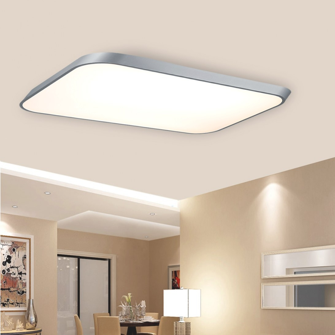 42W Thin Led Flush Mounted Ceiling Modern Wall Kitchen throughout Led Flush Mount Ceiling Light