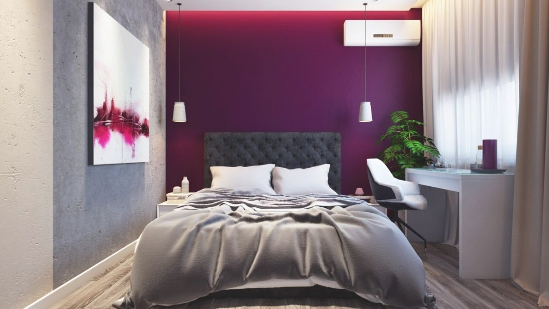 44 Awesome Accent Wall Ideas To Give Your Bedroom Some within Purple Accent Wall Bedroom