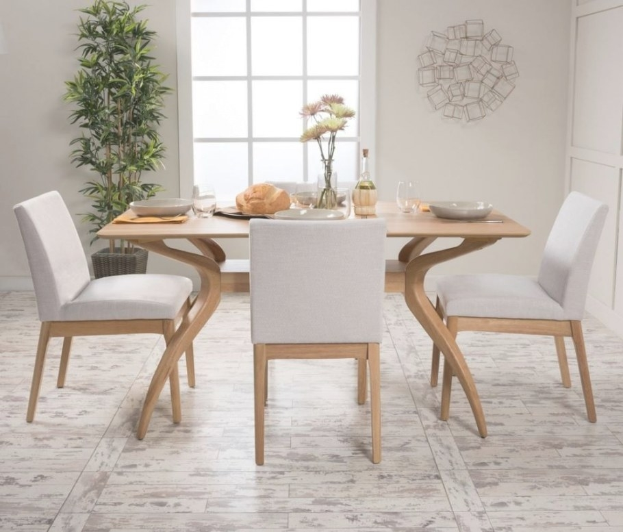 5 Piece Dining Set Wood Table 4 Chair Kitchen Mid Century for Mid Century Modern Dining Set