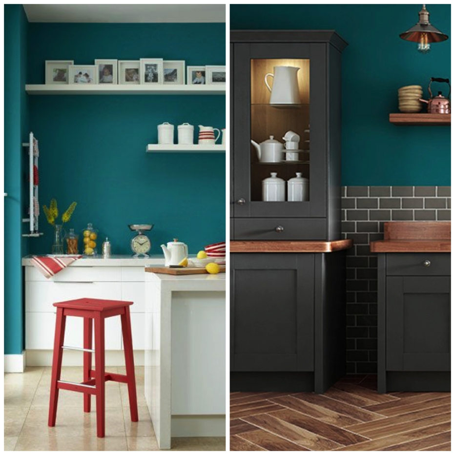 6 Creative Ways To Include Teal In Your Kitchen | Big Chill with Teal And Gray Kitchen