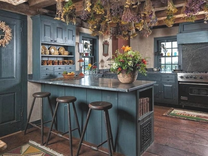 7 Color Ideas For Kitchens | Art Of The Home in Teal And Gray Kitchen