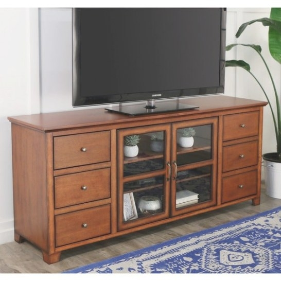 70-Inch 6-Drawer Wood Tv Stand - 15683525 - Overstock with regard to 70 Inch Tv Stand