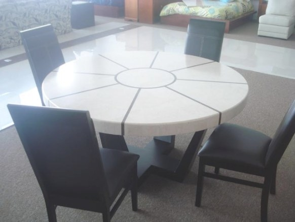8 Person Marble Round Dining Table | Mr Vallarta'S for 8 Person Dining Table