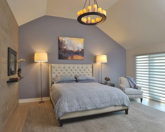 80 Inspirational Purple Bedroom Designs & Ideas - Hative within Purple Accent Wall Bedroom