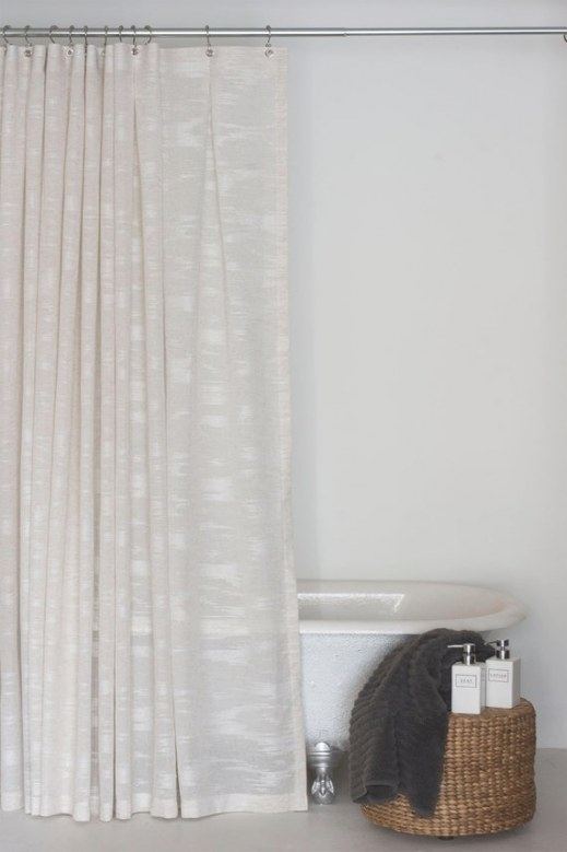 84 Linen Sheer Extra Long Shower Curtainemilyellingwood for 84 Inch Shower Curtain