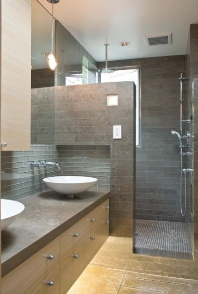 A Modern And Cozy Family Home - Contemporary - Bathroom with regard to Images Of Modern Bathrooms