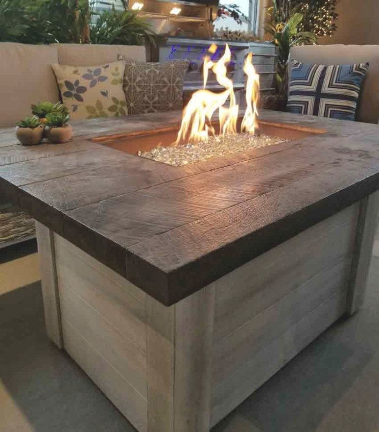 Alcott Gas Fire Pit Table | Affordable Outdoor Kitchens with Propane Fire Pit Table