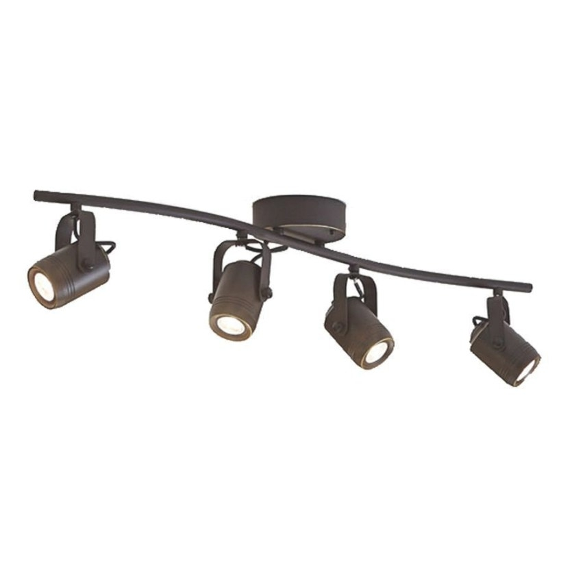 Allen + Roth Tyslow 4-Light 31.2-In Bronze Dimmable Led throughout Led Track Lighting Kits