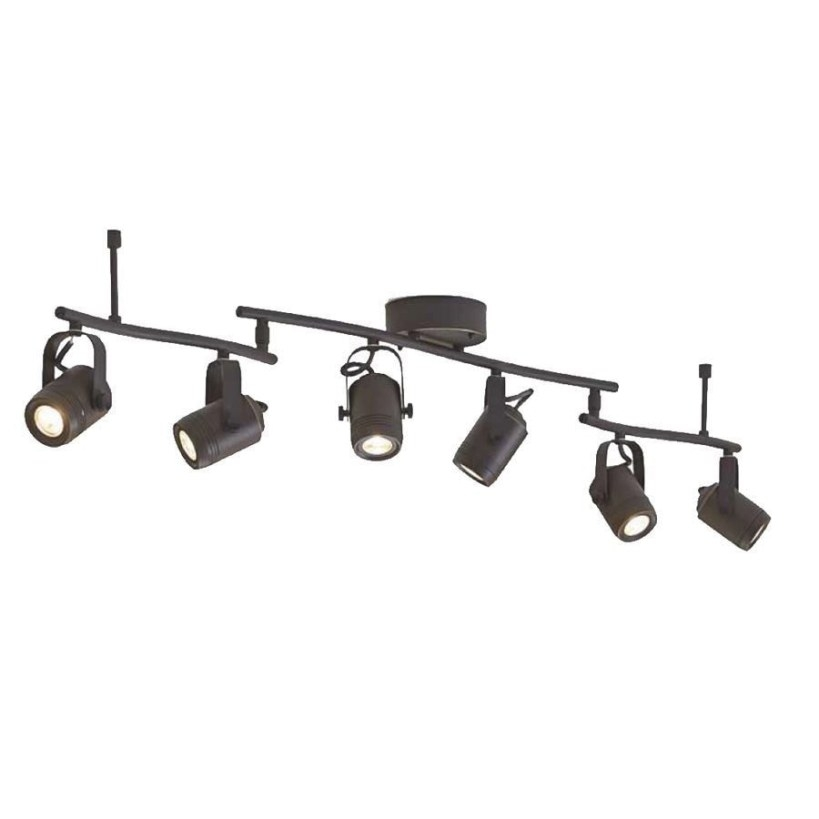 Allen + Roth Tyslow 6-Light 45.8-In Bronze Dimmable Led within Led Track Lighting Kits