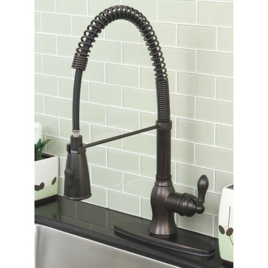 American Classic Modern Oil Rubbed Bronze Spiral Pull-Down in Oil Rubbed Bronze Kitchen Faucet