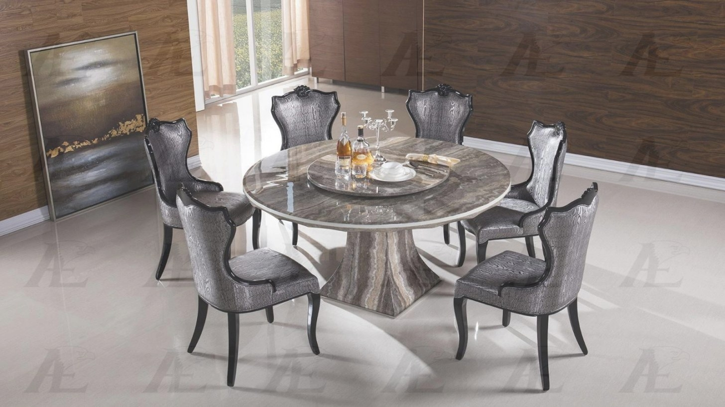 American Eagle Dt-H36 Black Marble Top Round Dining Table in Round Marble Dining Table
