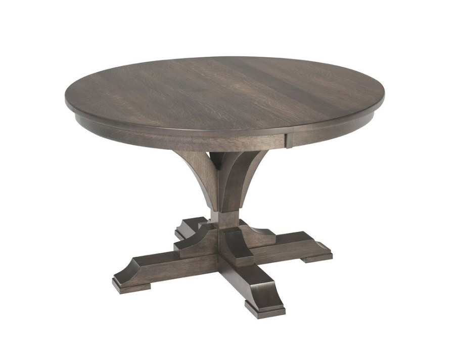 Amish Round Pedestal Dining Table Francis Solid Wood with Round Wood Dining Table