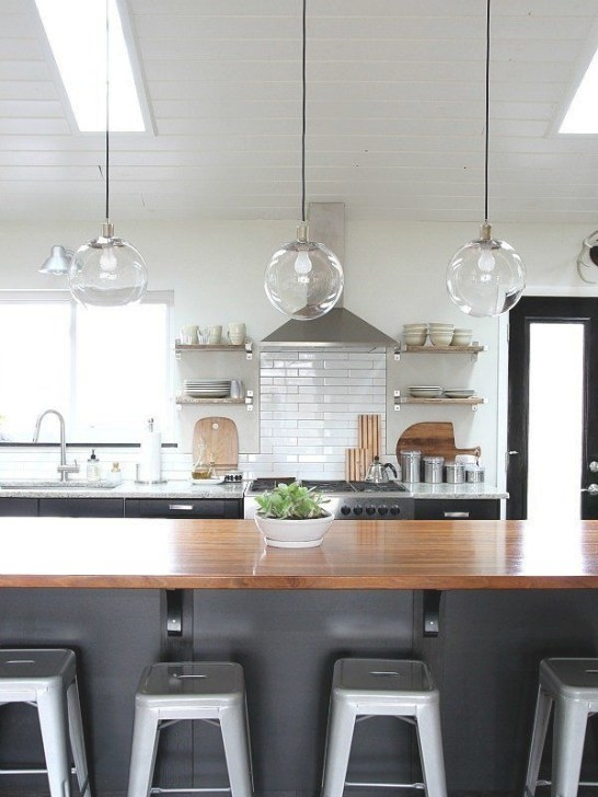 An Easy Trick For Keeping Light Fixtures Sparkling Clean throughout Kitchen Island Pendant Lighting