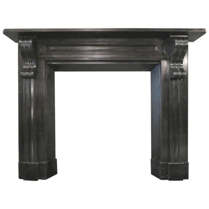Antique Early 19Th Century Irish Black Marble Fireplace throughout Fireplace Mantels For Sale