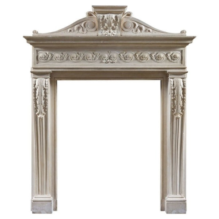 Antique French 17Th Century Baroque Style Fireplace Mantel with regard to Fireplace Mantels For Sale