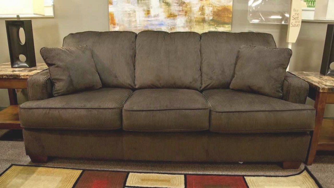 Ashley Atmore Chocolate Sofa - Youtube throughout What Is A Settee