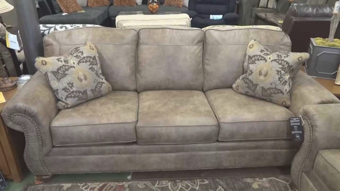 Ashley Furniture Larkinhurst Earth Couch & Loveseat Review intended for What Is A Settee