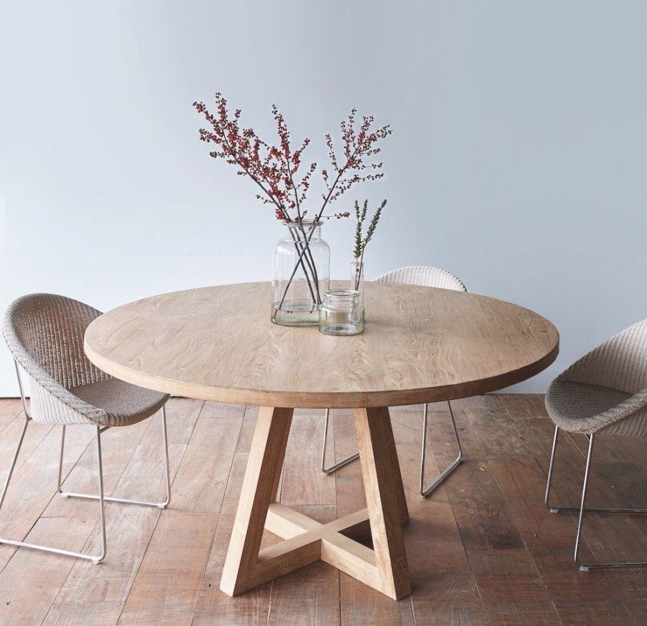 Bagoes Teak Furniture | Cozinha E Sala De Jantar, Mesa intended for Round Wood Dining Table