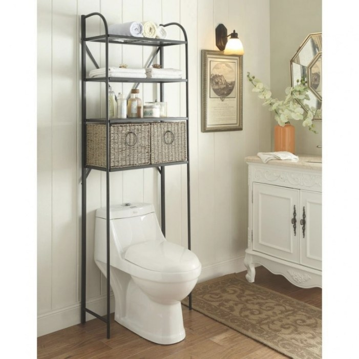 Bathroom: Above Toilet Cabinet For Easy Access throughout Over The Toilet Storage