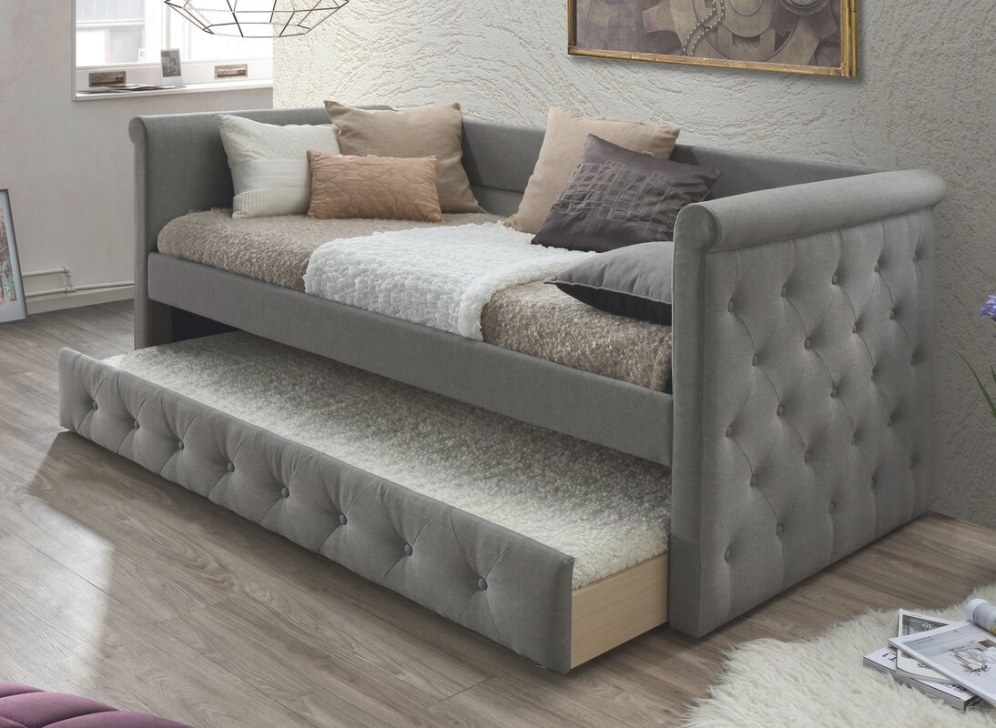 Baxton Studio Marea Daybed With Trundle & Reviews | Birch Lane within Daybed With Pop Up Trundle