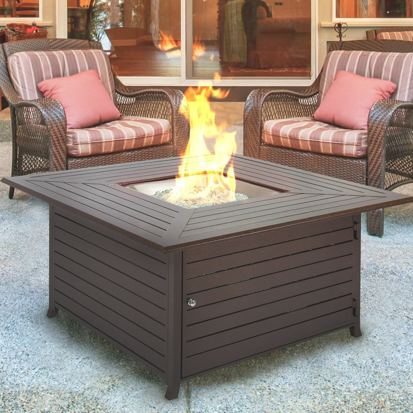 Bcp Extruded Aluminum Gas Outdoor Fire Pit Table With intended for Propane Fire Pit Table