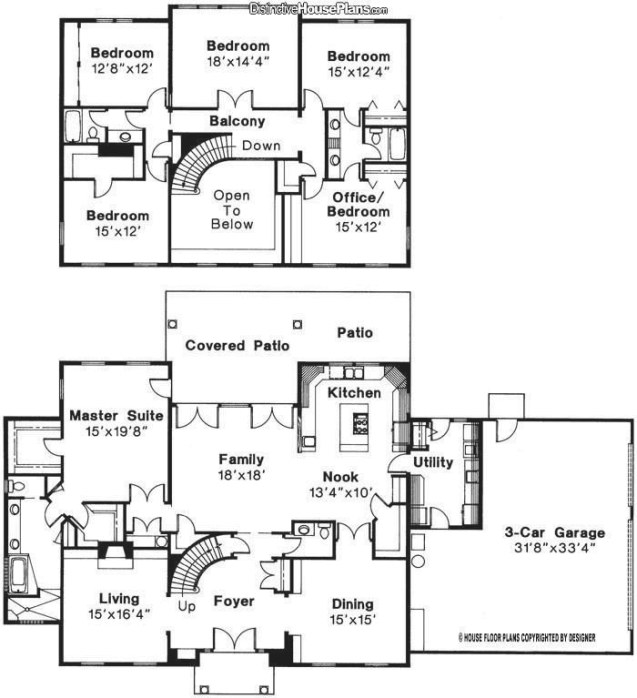 Beautiful 2 Storey 5 Bedroom House Plans - New Home Plans throughout 5 Bedroom Floor Plans