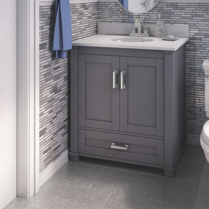 "Bello Freestanding Style 30"" Single Sink Bathroom Vanity throughout 30"" Bathroom Vanity"
