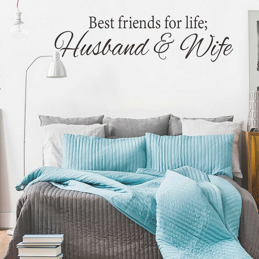 Best Friends For Life Decal Sticker Wall Art Husband And inside Husband And Wife In Bedroom