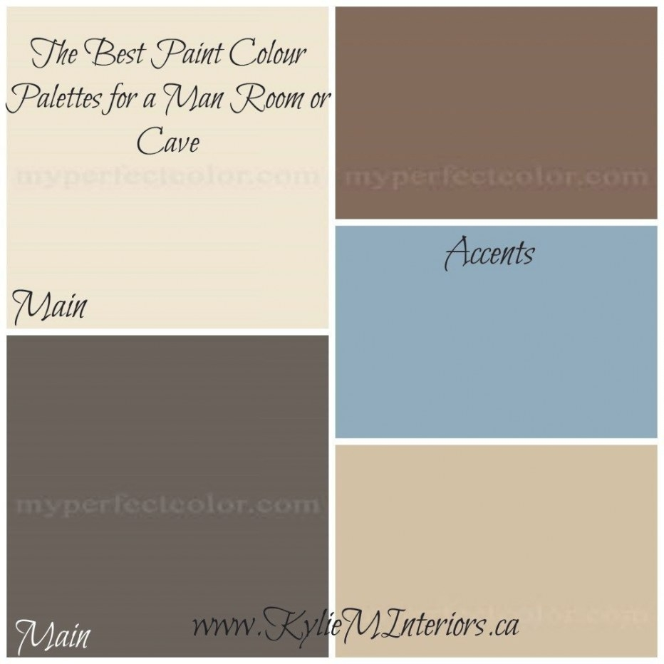 Best Paint Colors For A Man Room / Man Cave | Brown Paint pertaining to Blue And Brown Color Palette