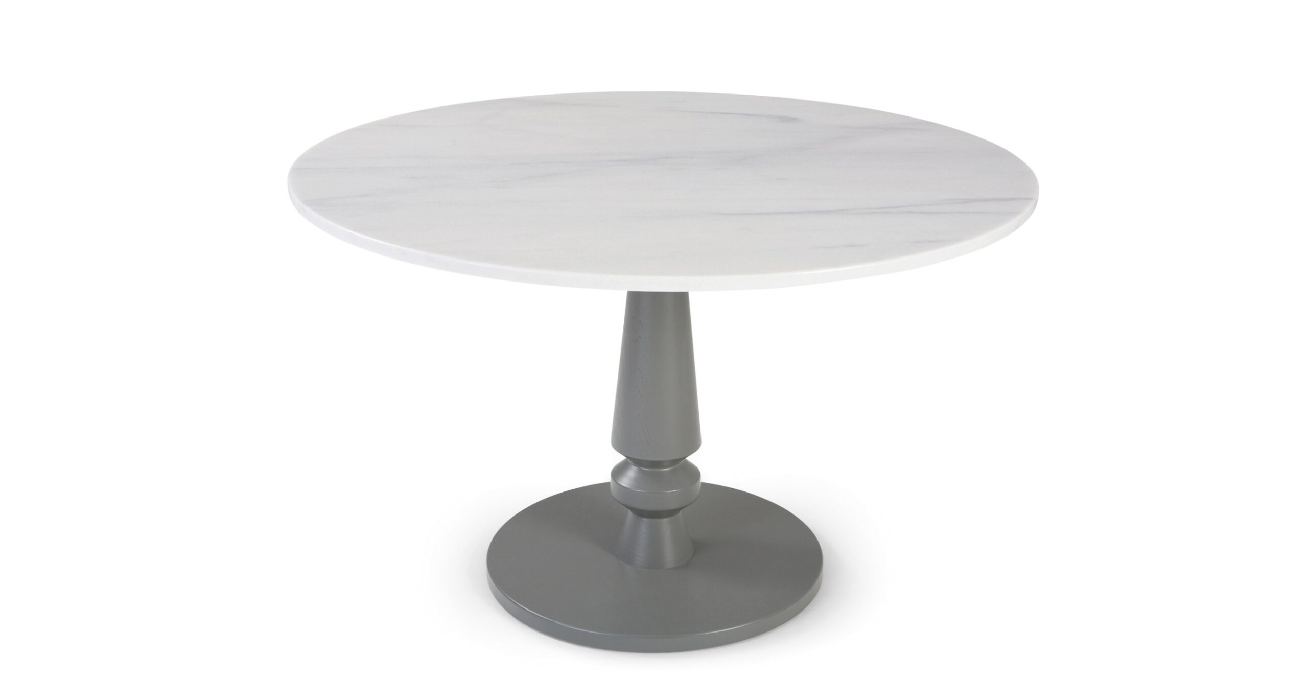 Betty Round Dining Table, Grey And Marble   Made inside Round Marble Dining Table