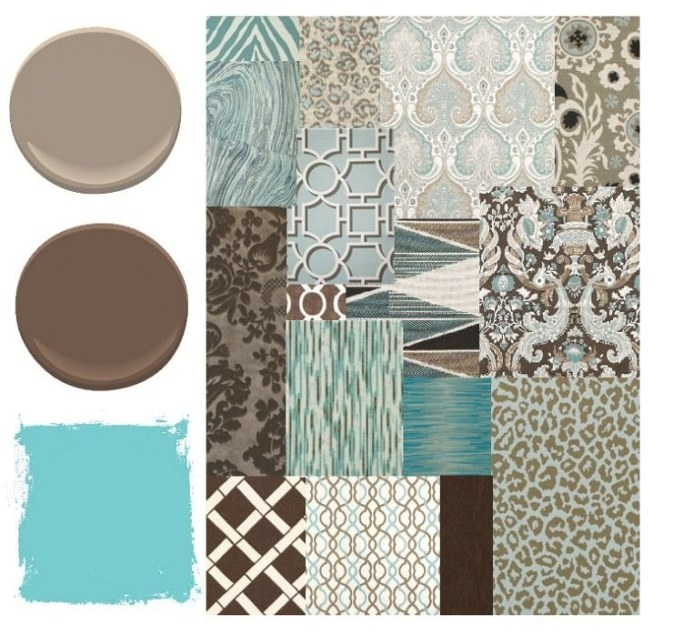 Blue, Brown, And Aqua Color Palette - Places In The Home in Blue And Brown Color Palette