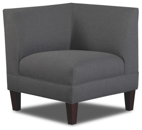 Briley Corner Chair, Linen - Contemporary - Armchairs And with Armchairs And Accent Chairs