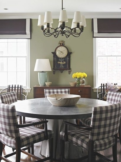 Brown And White Check/Gingham Chairs. | Interior, Home intended for Restaurant Booths For Home