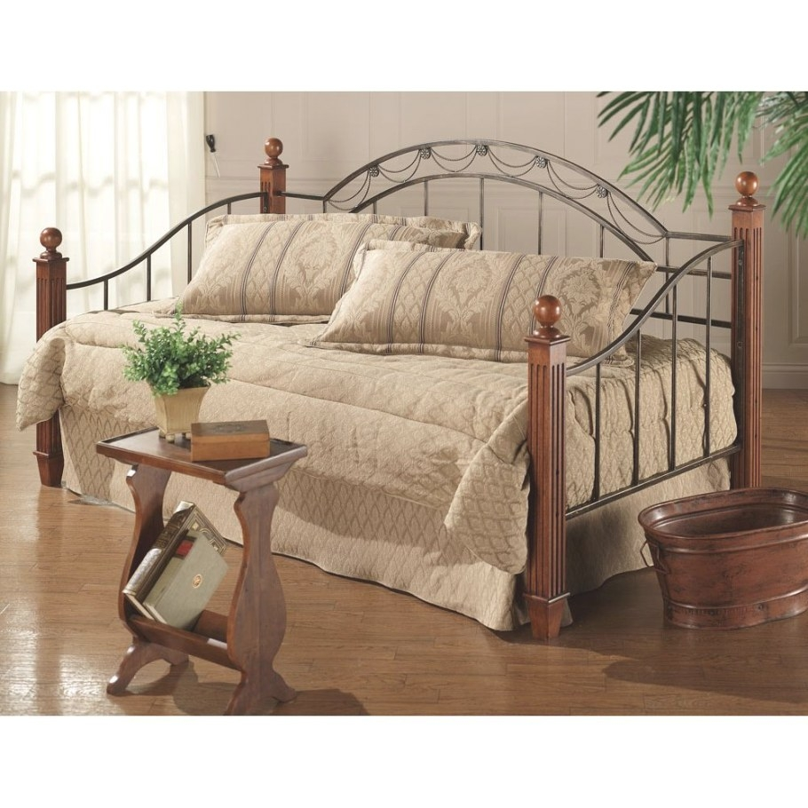 Camelot Wood & Metal Daybed | Wood Iron Day Beds, Trundle in Daybed With Pop Up Trundle