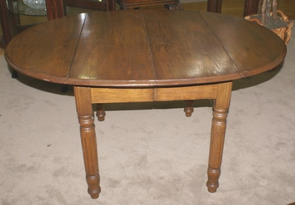 Chestnut Oval Drop Leaf Kitchen Table within Drop Leaf Kitchen Table
