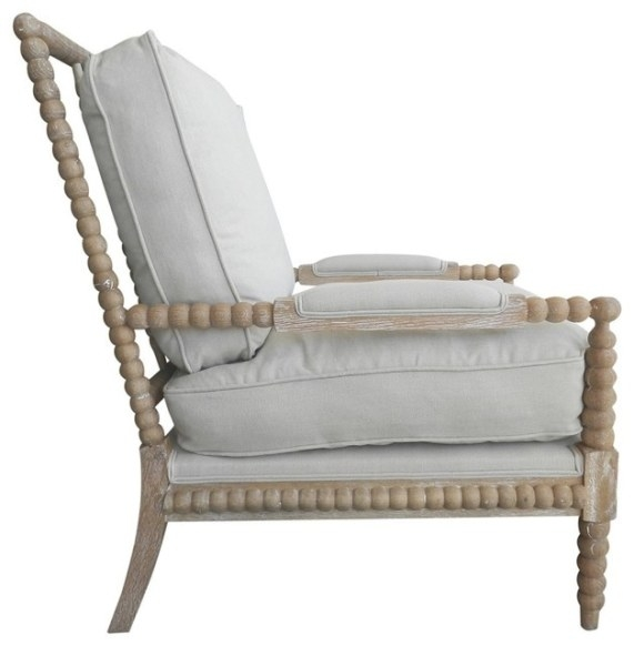 Classic Down Spool Chair - Beach Style - Armchairs And pertaining to Armchairs And Accent Chairs