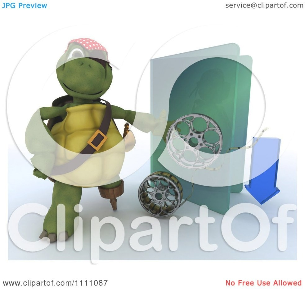 Clipart 3D Illegal Movie Download Pirate Tortoise With A with regard to Is It Illegal To Remodel Without A Permit