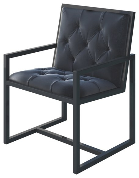 Cole Modern Metal Chair With Frame - Modern - Armchairs regarding Armchairs And Accent Chairs